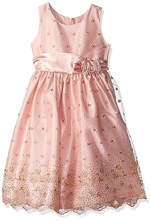 32a66a0ae70 Amazon.com  Jayne Copeland Girls  Big Embroider Sequins mesh  Clothing
