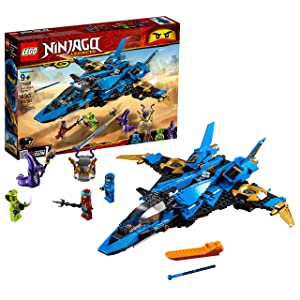 LEGO NINJAGO Legacy Jay's Storm Fighter 70668 Building Kit, 2019 (490 Pieces)