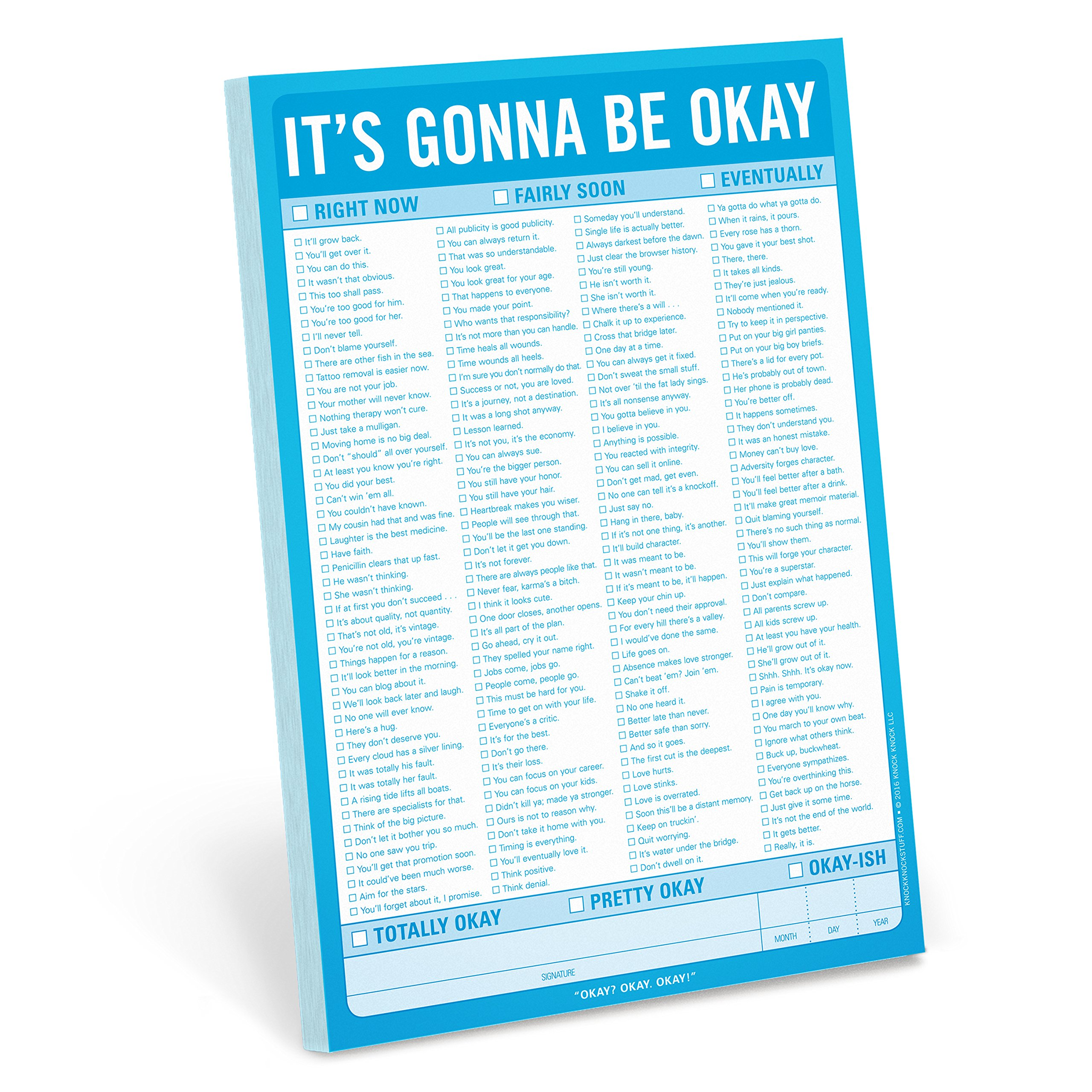 Read Online Knock Knock It's Gonna Be Okay Pad pdf