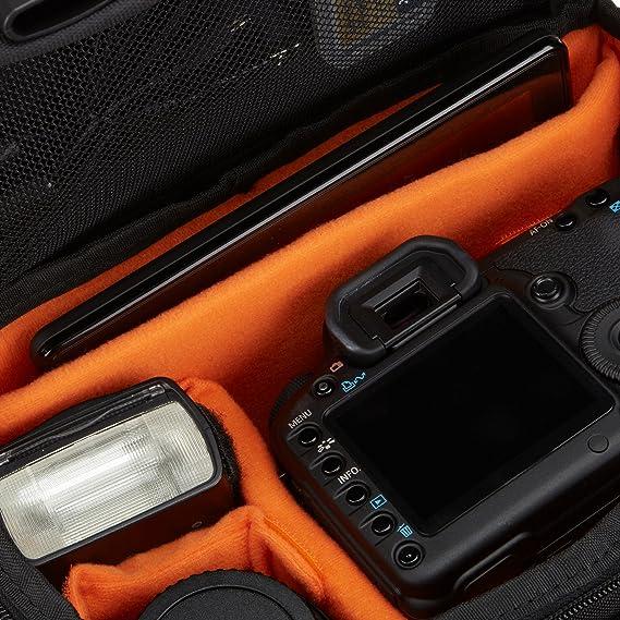 710e48d59 Amazon.com : AmazonBasics Large DSLR Camera Gadget Bag - 11.5 x 6 x 8  Inches, Black And Orange : Photographic Equipment Bags : Camera & Photo