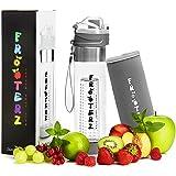 Premium Fruit Infuser Trinkflasche mit Früchtebehälter 700ml inkl. Thermohülle - BPA frei - LFBG zertifizierte Sportflasche aus Tritan