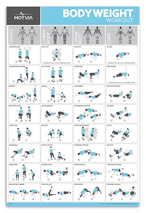 Home Gym Fitness Workout Exercise Poster