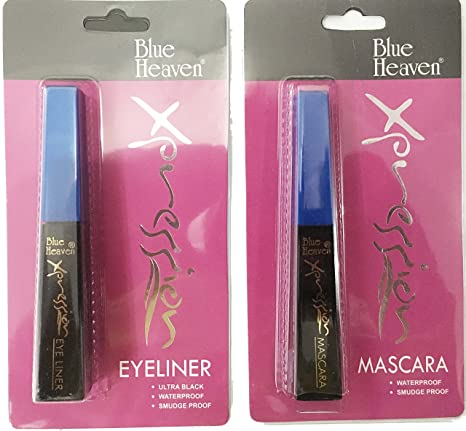 c72c72d16ab Buy Blue Heaven Xpression Eye Liner & Mascara 8ml Combo Online at Low  Prices in India - Amazon.in