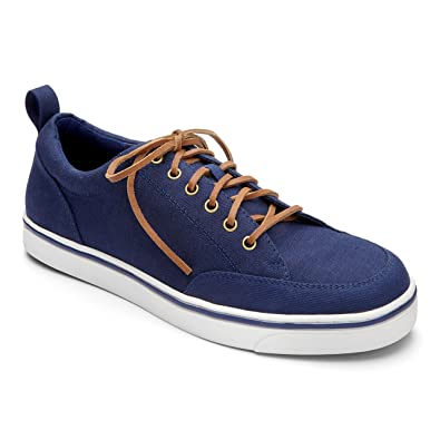 Vionic Men's Orion Navy Canvas/Teak 7 ...