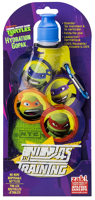 Zak Designs Teenaged Mutant Ninja Turtle Collapsible Water Bottle by Zak Designs, 15-Ounce