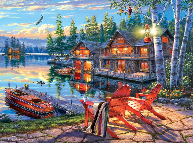 Darrell Bush Buffalo Games Loon Lake 1000 Piece Jigsaw Puzzle