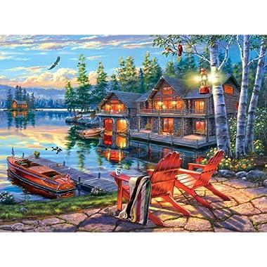 Buffalo Games - Darrell Bush - Loon Lake - 1000 Piece Jigsaw Puzzle