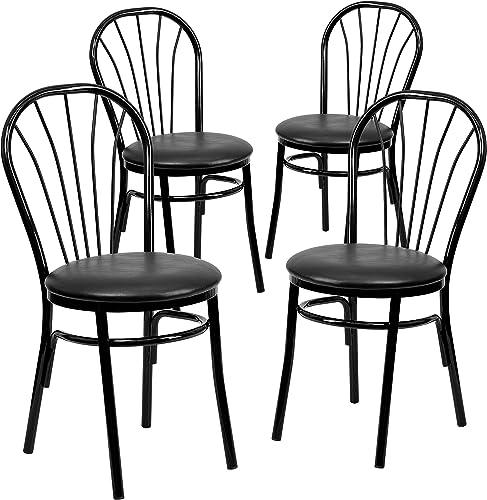 Flash Furniture 4 Pack HERCULES Series Fan Back Metal Chair