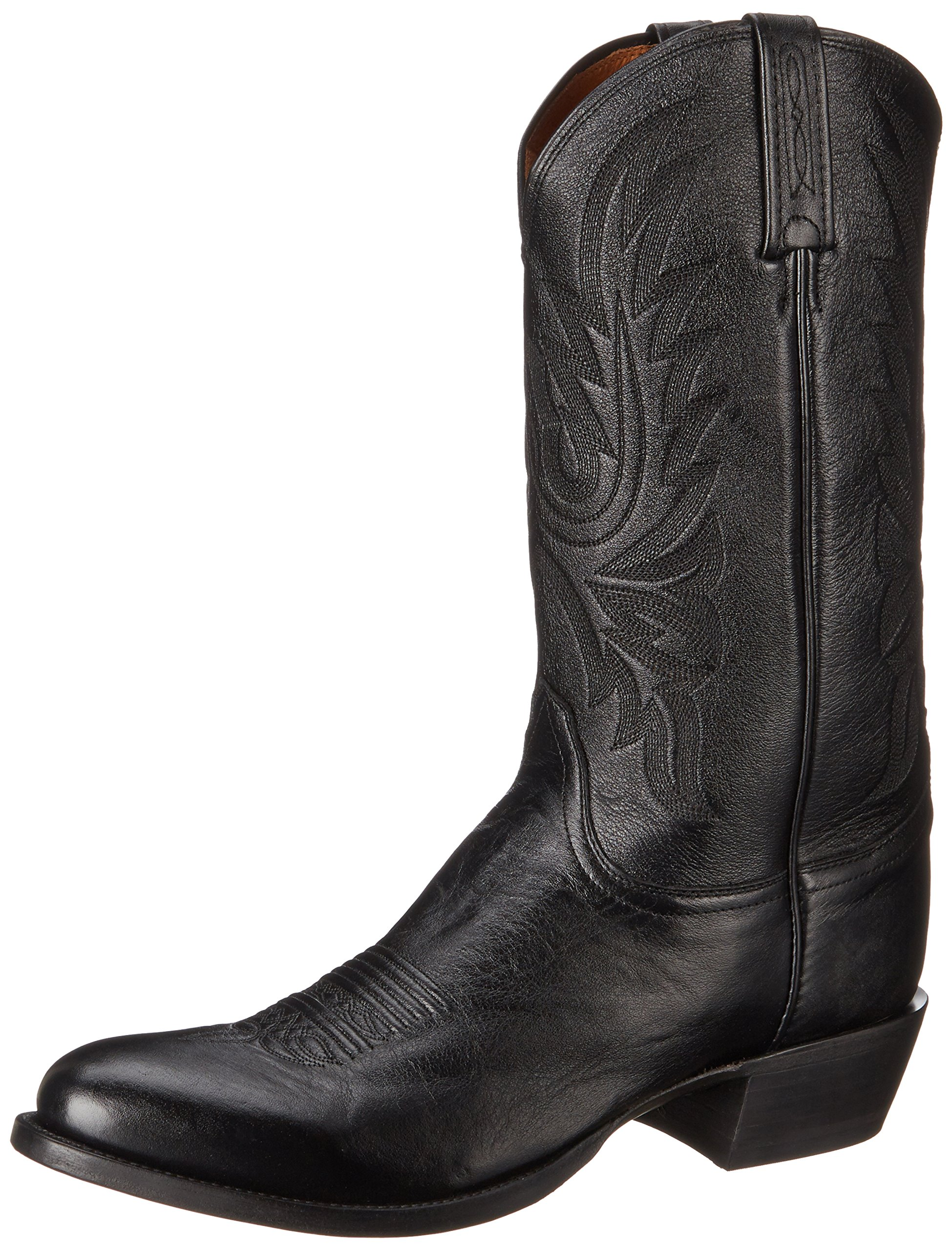 Lucchese Classics Men's Carso-blk Lonestar Calf Cowboy Riding Boot, Black, 10.5 D US