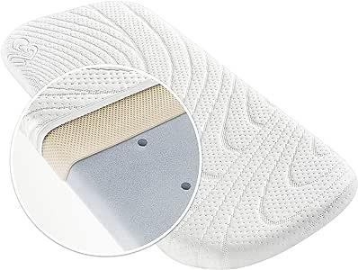 Alvi Colchón para capazo - TENCEL® & Dry - 75x33 cm / Funda antihumedad / Espuma perforada / Cámara de aire 3D / Hipoalergénico / Sin sustancias nocivas: Amazon.es: Bebé