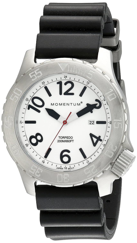 Momentum Herren-Armbanduhr XL TORPEDO Analog Quarz Kautschuk 1M-DV74L1B