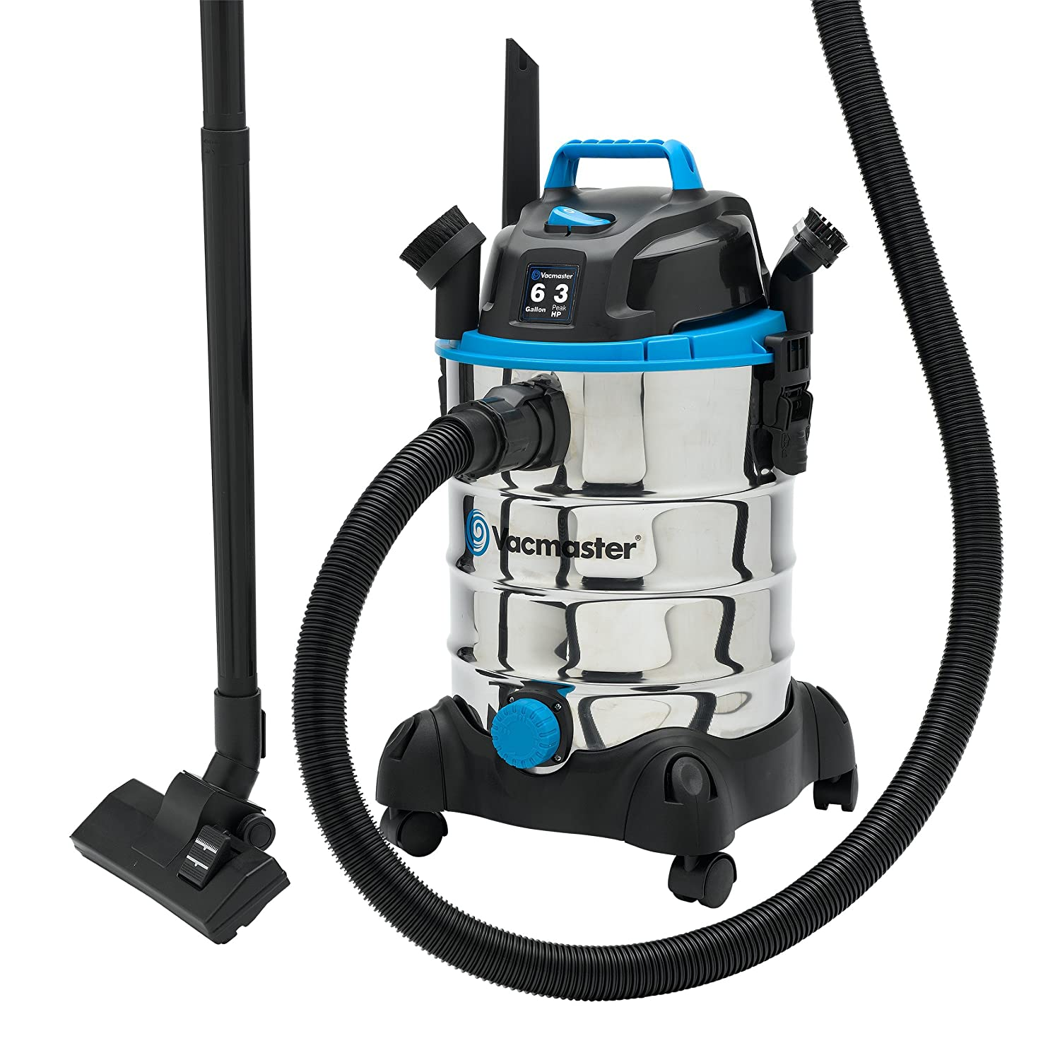 Vacmaster 2.5 Gallon Portable Wet//Dry Vacuum 2 Peak HP VP205