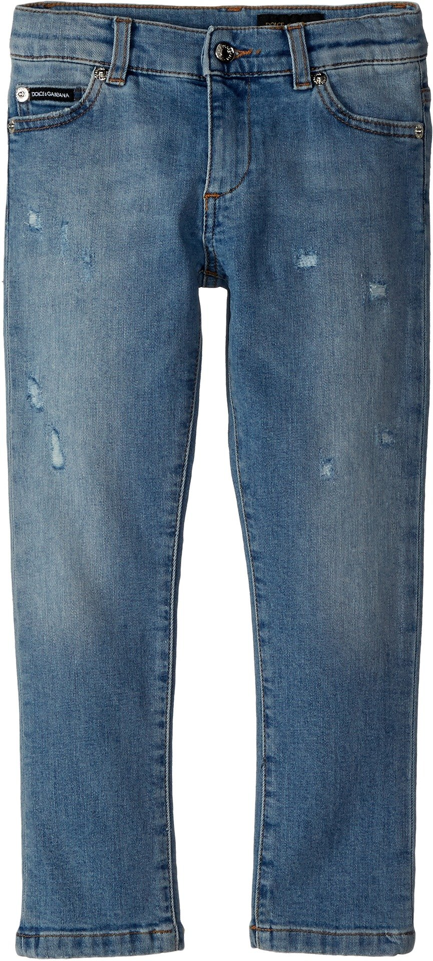 Dolce & Gabbana Kids Baby Boy's Five-Pocket Trousers (Toddler/Little Kids) Dark Blue 4T