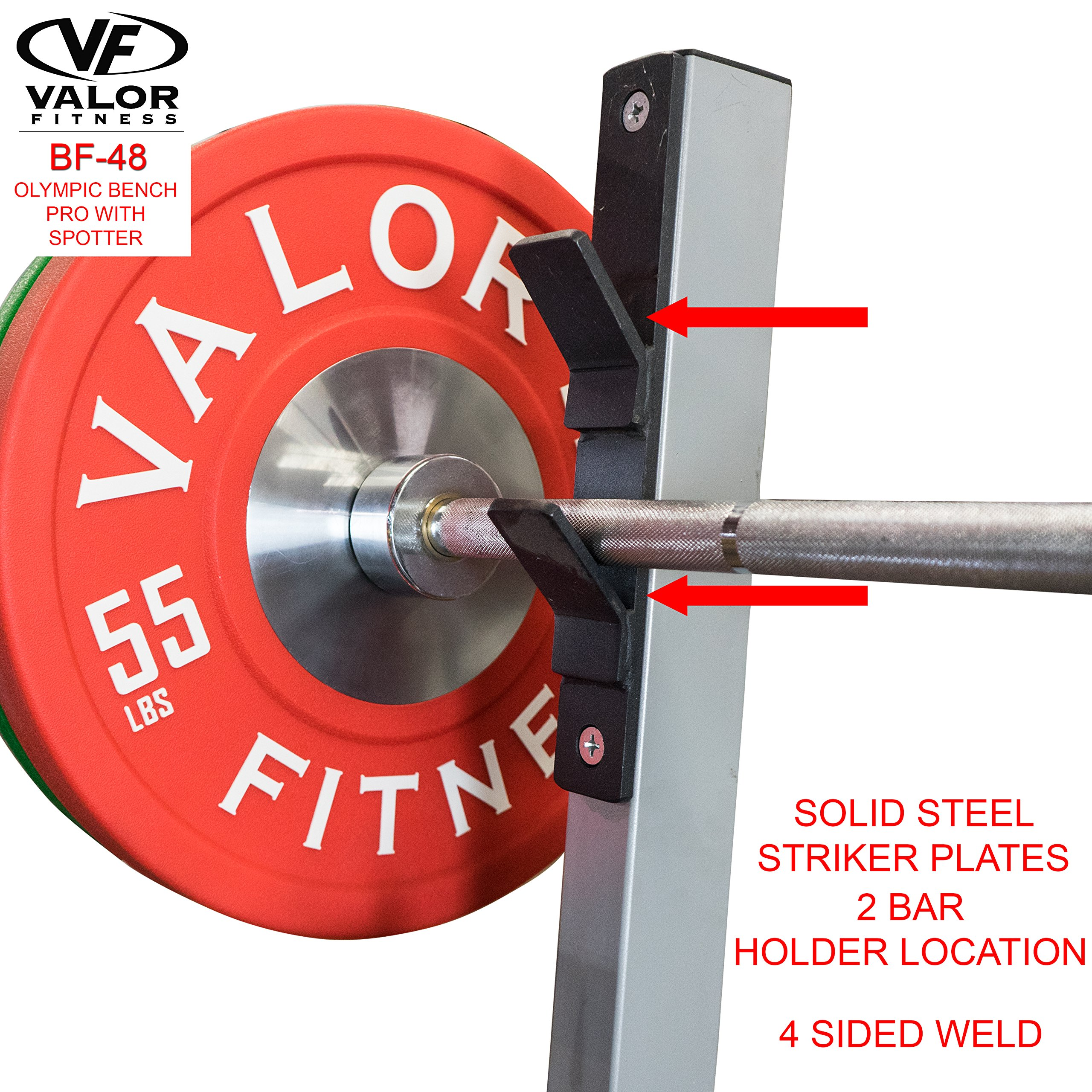 Valor Fitness BF-48 Olympic Bench Pro with Spotter by Valor Fitness (Image #5)