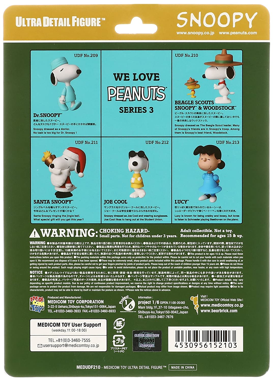 Amazon.com: Medicom Peanuts: Beagle Scout Snoopy & Woodstock Ultra ...