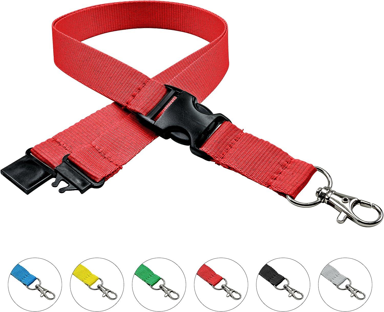 Sicherheitsverschluss linie zwo/® Schiebeschnalle easy going Haken Rot 10er Pack Schl/üsselb/änder 20 mm