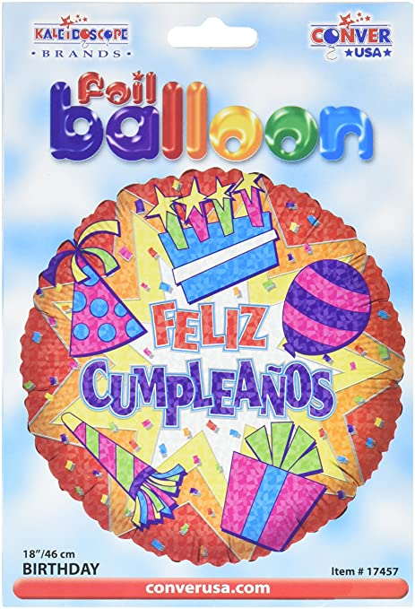 Amazon.com: CONVER USA Feliz Cumpleanos Burst Package ...