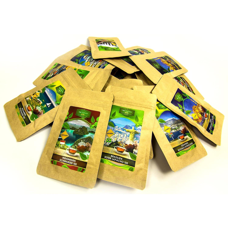 Tee Geschenk Set für Tee Trinker (10x7 Tassen) | Tee Präsentkorb ...