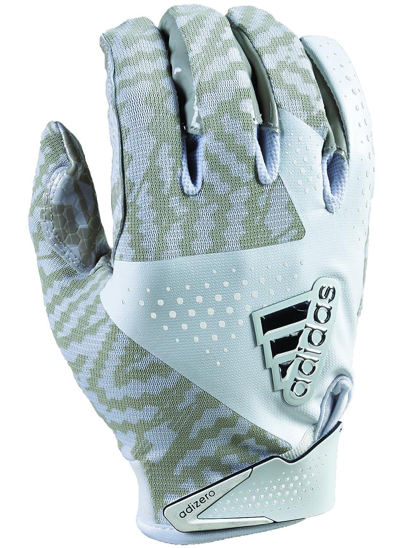 ADIDAS Adizero 5.0 Fußball Handschuhe 4 x große Weiß Weiß