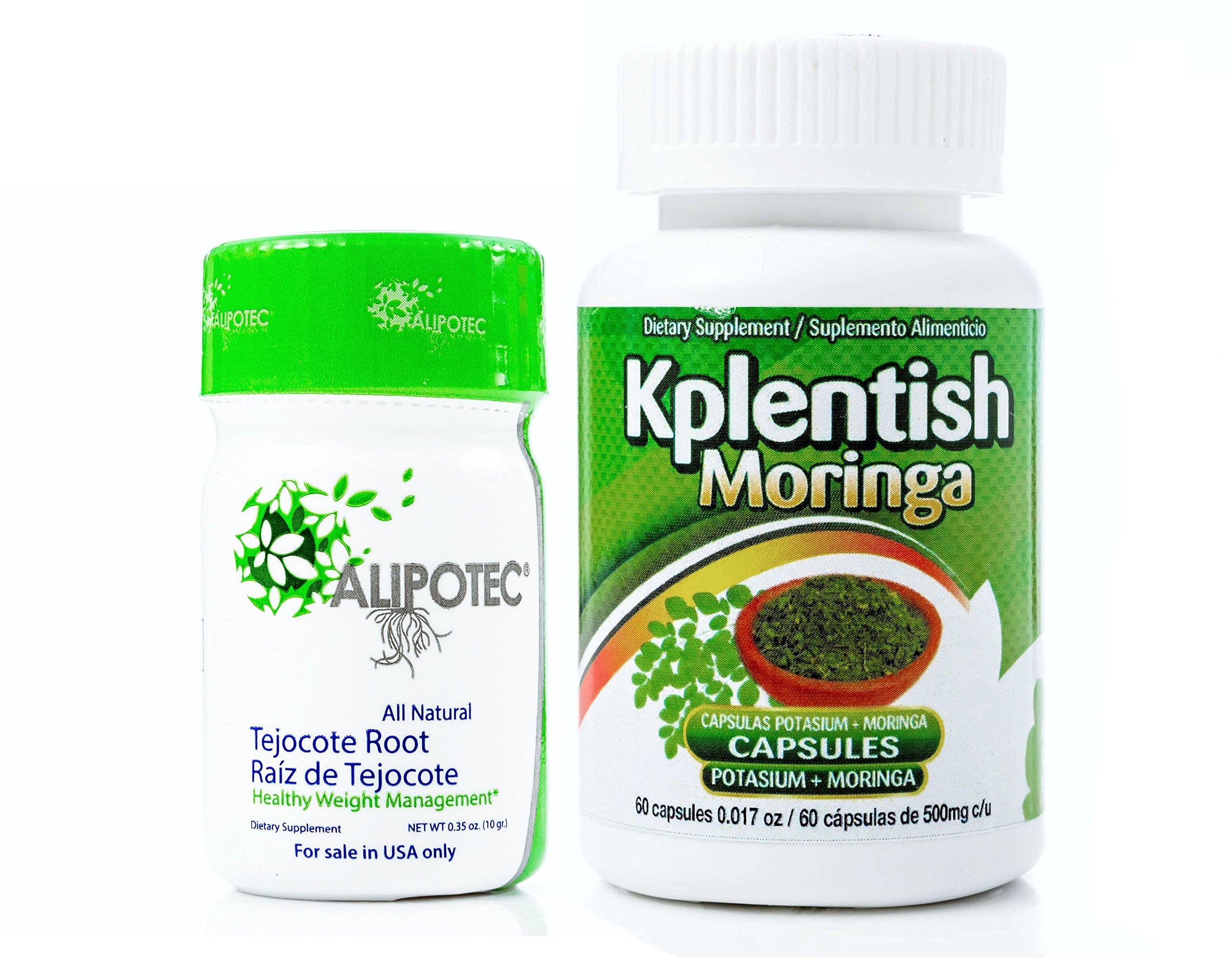 Alipotec Root Raiz de Tejocote 90 Day Supply and 30 Day KPlentish Moringa Potassium Supplement 2 Product Pack by ALIPOTEC Tejocote