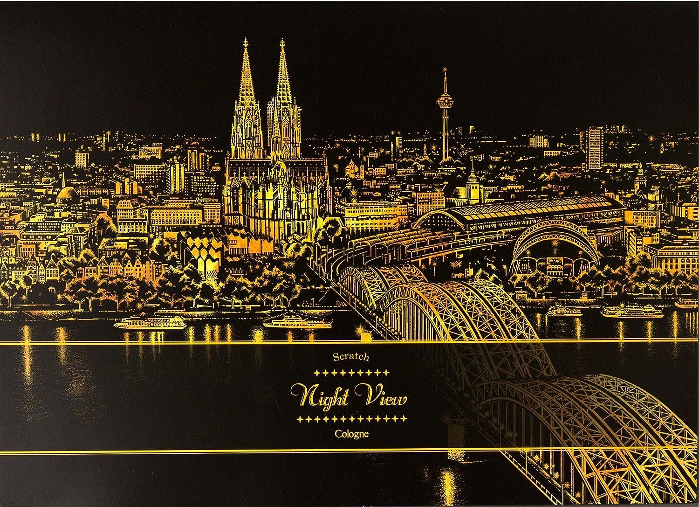 Lago Scratch Art Therapy- Night View (Cologne) Lago Design Inc. NV-COL