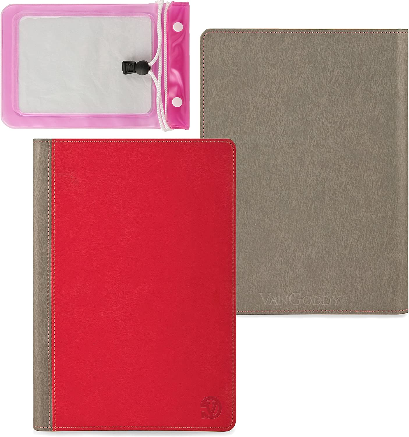 Quality Book Style, Pastel Magenta on Heather Gray Vangoddy Brand Mary Collection Leather -ette Portfolio Cover Cases for All Models of the Acer Iconia Tab w510 10.1 Inch Windows 8 Tablet + 10 Inch Tablet Waterproof Bag Case