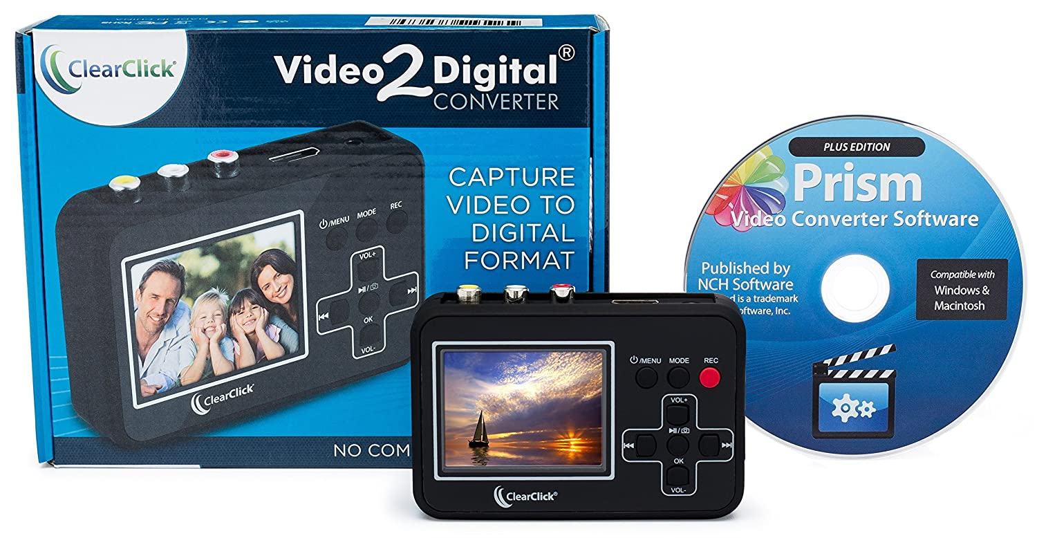 Amazon.com: ClearClick Video to Digital Converter - Capture Video ...
