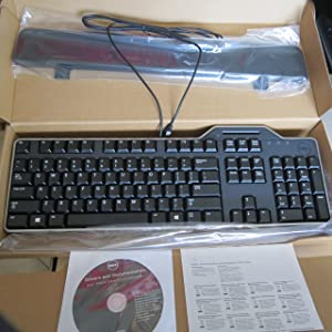 Dell KB813 Smart Card USB Keyboard (English) with Wire Wrap (CAC Compatible Version)