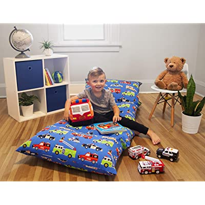 Wildkin Kids Pillow Lounger for Boys and Girls, Travel-Friendly and Perfect for Sleepovers, Requires 4 Standard Size Pillows (Not Included), Measures 69.5 x 27 Inches, BPA-Free (Heroes): Toys & Games