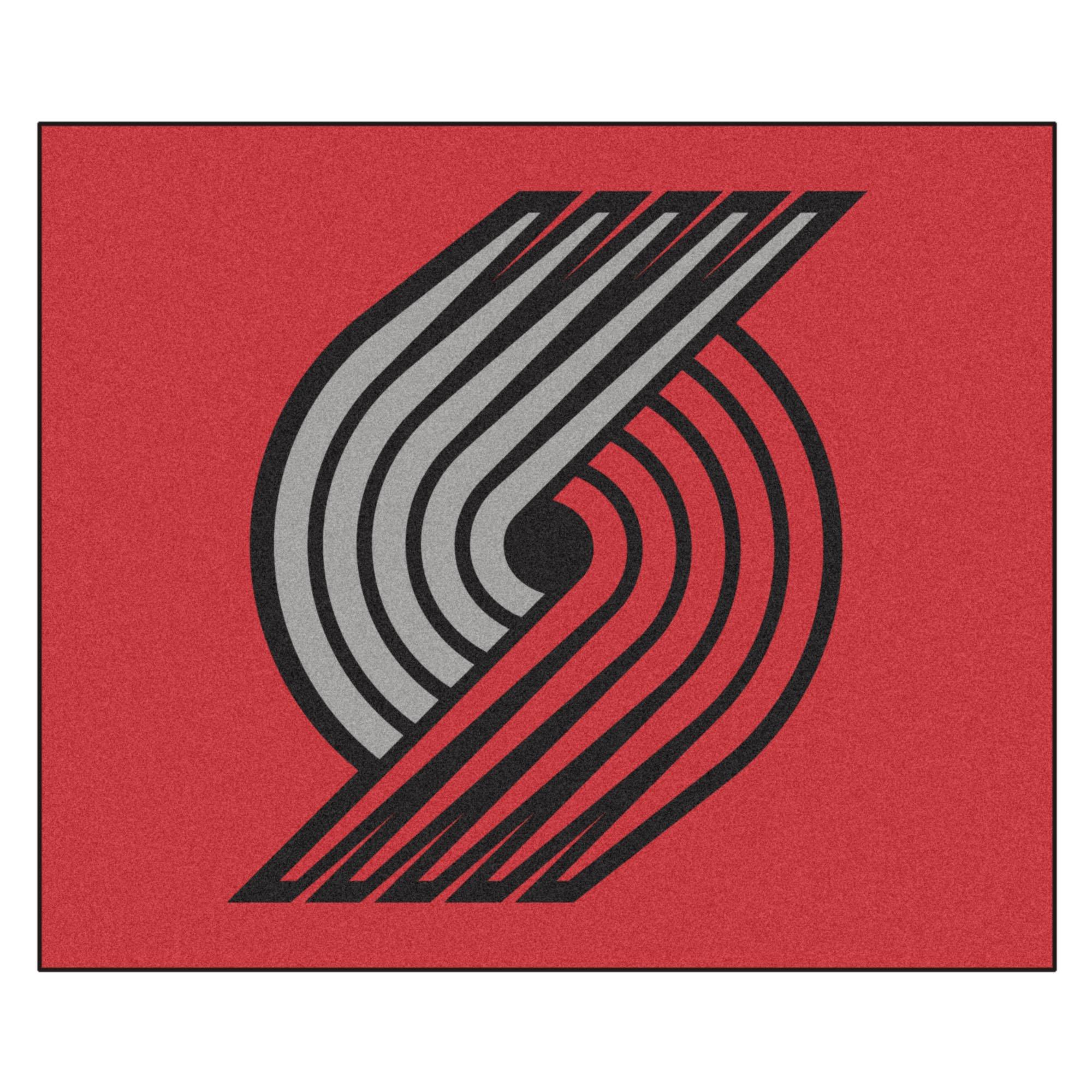 FANMATS 19472 NBA - Portland Trail Blazers Tailgater Rug , Team Color, 59.5''x71''