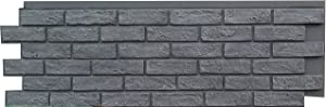 NextStone Polyurethane Faux Stone Panel - Brick - Antique Gray (4 Panels per Box)