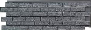 NextStone Polyurethane Faux Stone Panel - Brick - Antique Gray (4 Panels per Box)