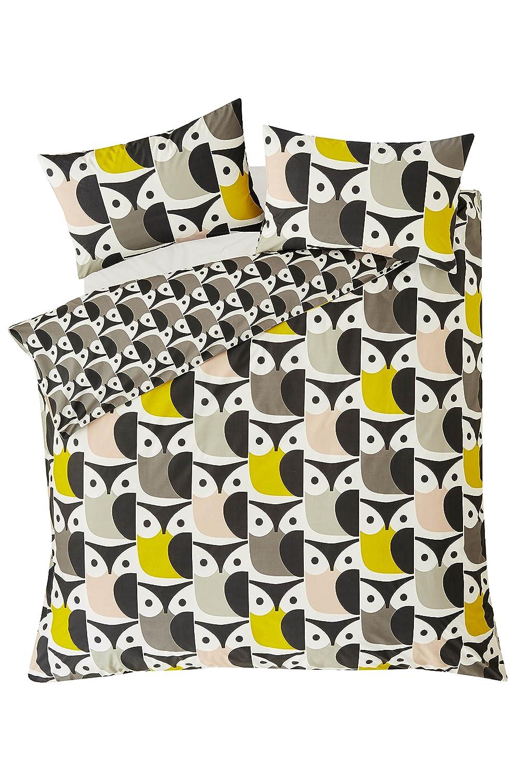 Housewife Pillowcases 2 Per Pack Orla Kiely Big Owl Pink//Warm Grey