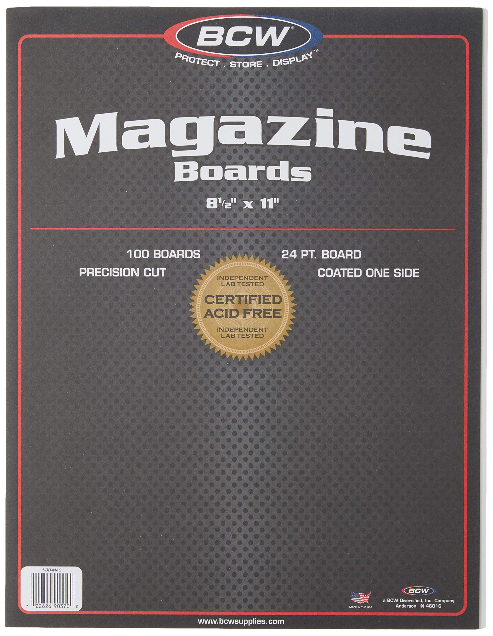 BCW-BBMAG - Magazine Size Backing Boards - White - (100 Boards), Size: 8.5 x 11 inches