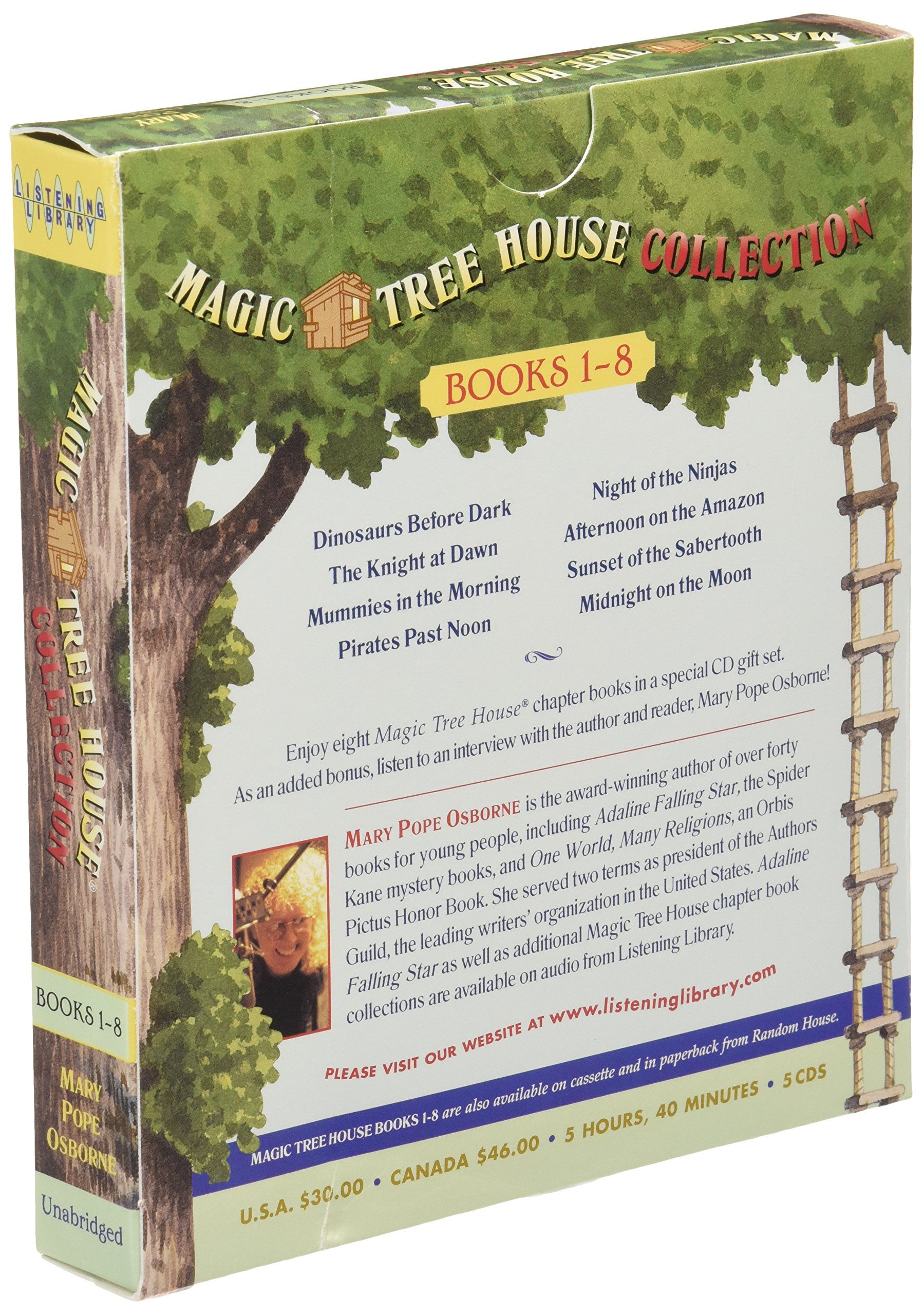 Author Of Magic Treehouse Books Part - 16: Magic Tree House Collection: Books 1-8: Dinosaurs Before Dark, The Knight  At Dawn, Mummies In The Morning, Pirates Past Noon, Night Of The Ninjas, ...