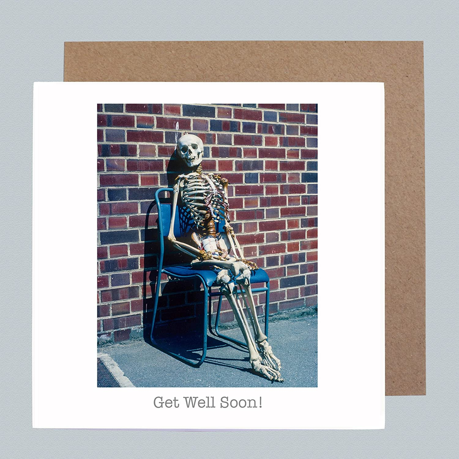 Get Well Soon - Vintage Retro Blank Greeting Card - Funny Humour Get Well Card 1970's by Honovi Cards