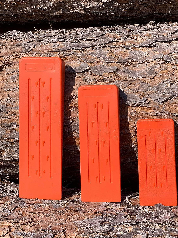 Orange Canad 3er Set Kunststoff F/ällkeile F/ällkeil 14 frostbest/ändig 19 und 23cm