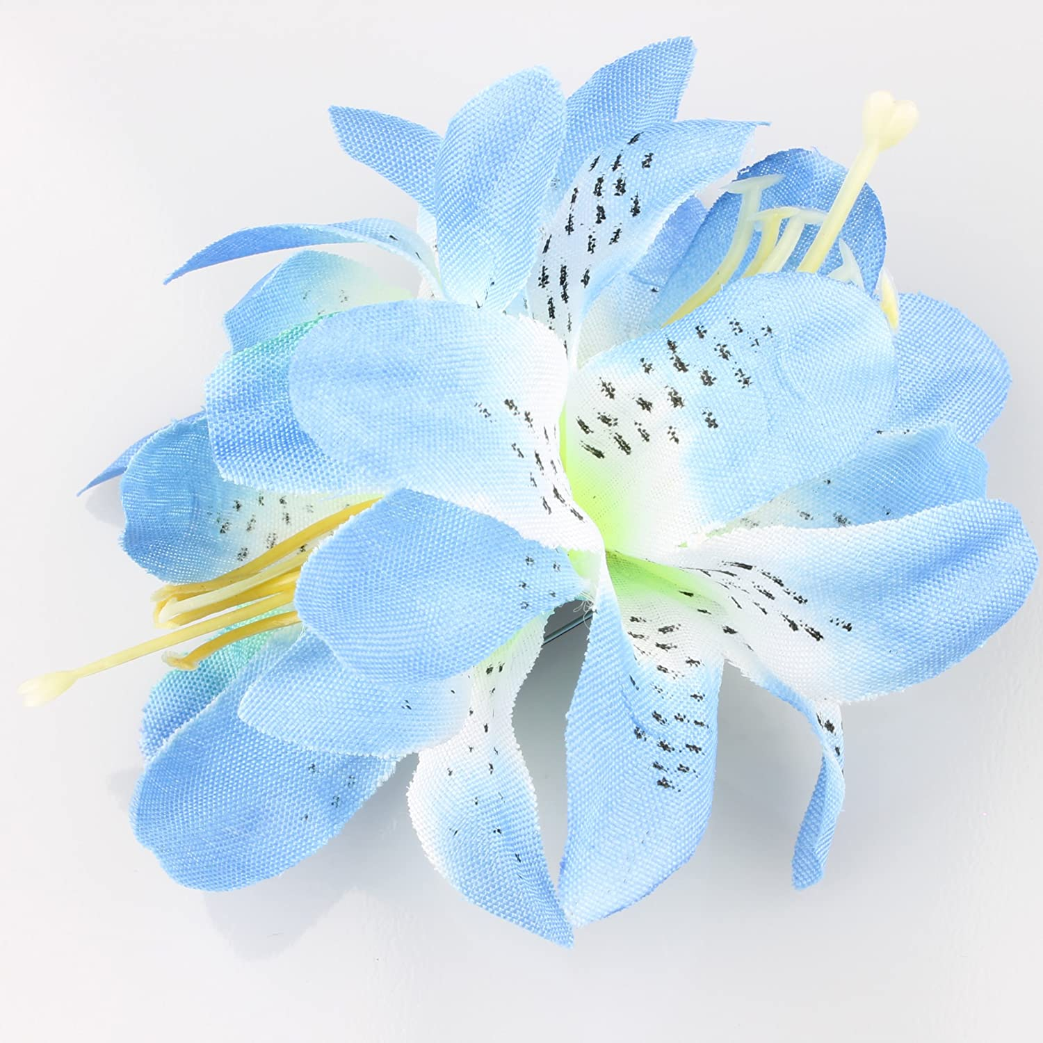 ada7d9dce5 Hair Accessories Flower Clip Bright Flower Hair Clip Pin Summer Hair  Flowers Wedding Bridal Hair[Blue Orchid]: Amazon.co.uk: Beauty