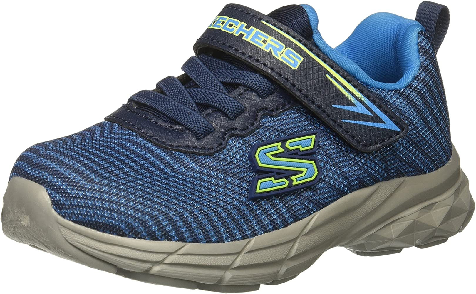 Skechers Kids Boys' Eclipsor Wide Sneaker, BlueNavy, 5 W US