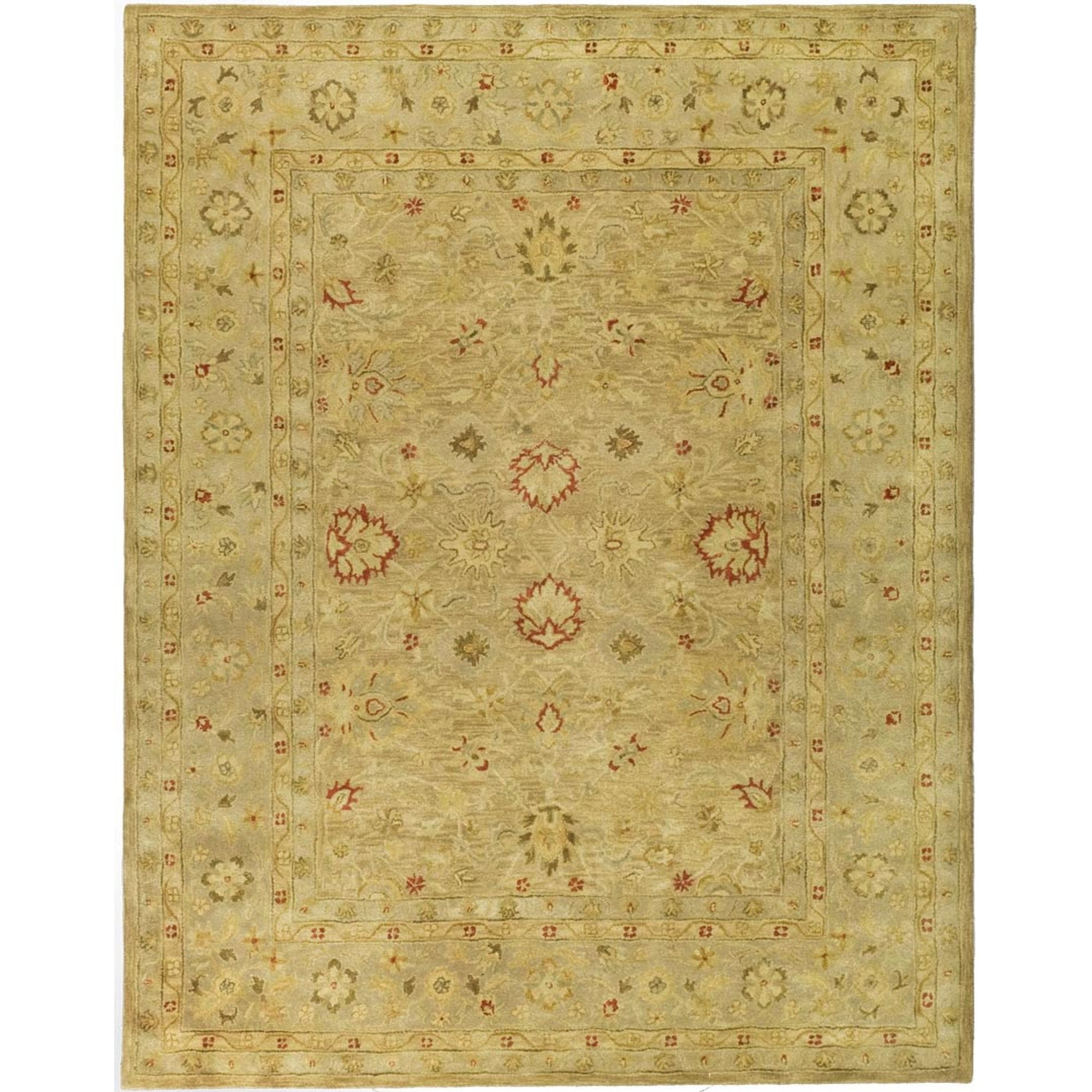 Safavieh Antiquities Collection AT822B Handmade Traditional Oriental Brown and Beige Wool Area Rug (7'6'' x 9'6'') by Safavieh (Image #1)
