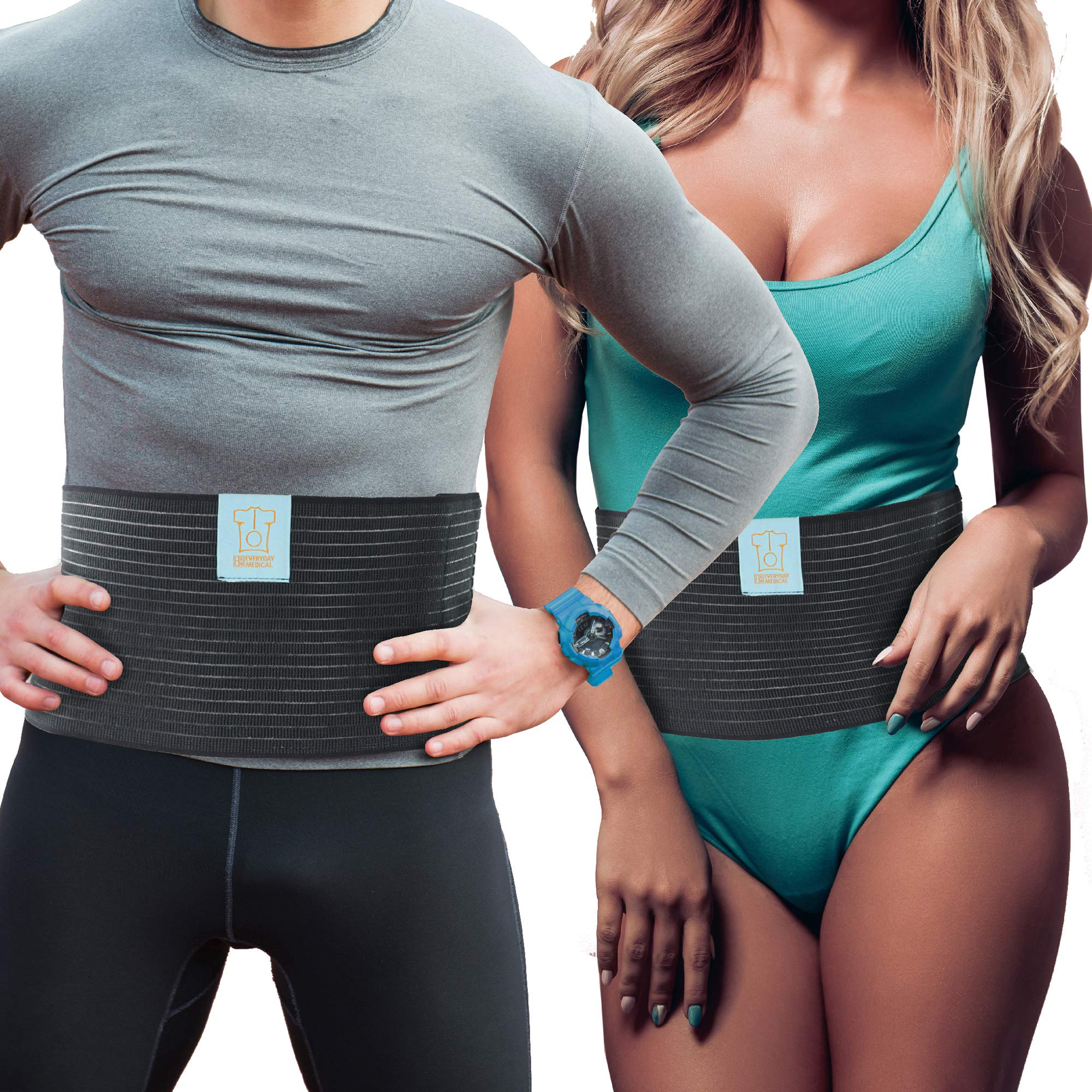 Everyday Medical Post Surgery Abdominal Binder for Men and Women - Medical Grade Stomach Compression Brace for Waist and Abdomen Surgeries Such as Gastric Bypass, Liposuction, C-Section, Tummy Tuck by Everyday Medical