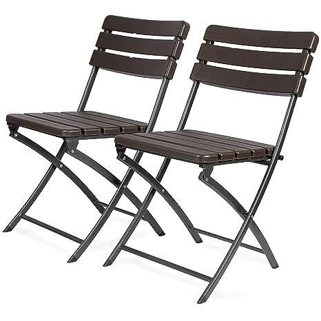 Sedie In Plastica Pieghevoli.Park Alley 4250772358960 2 Sedie Da Giardino Pieghevoli In Plastica