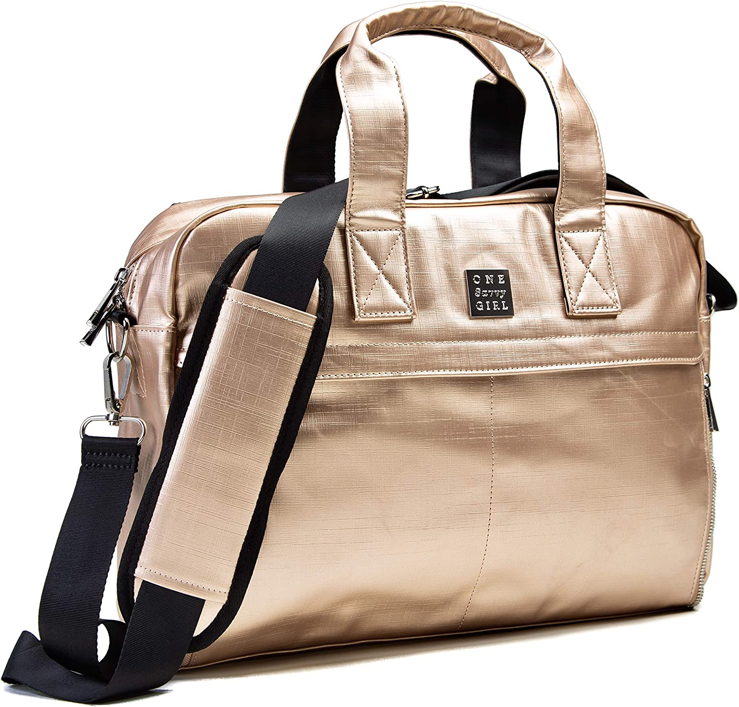 Laptop Backpack for Women - Stylish and Fashionable Rose Gold Computer and Messenger Bag Perfect for Work, Travel & Adventure