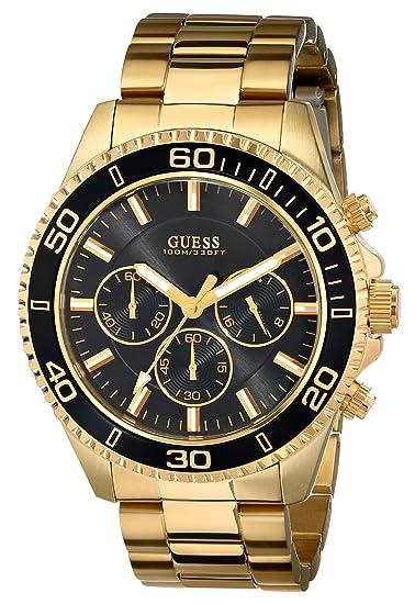 Guess U0170G2 - Reloj de Pulsera Hombre, Acero Inoxidable, Color Oro: Guess: Amazon.es: Relojes
