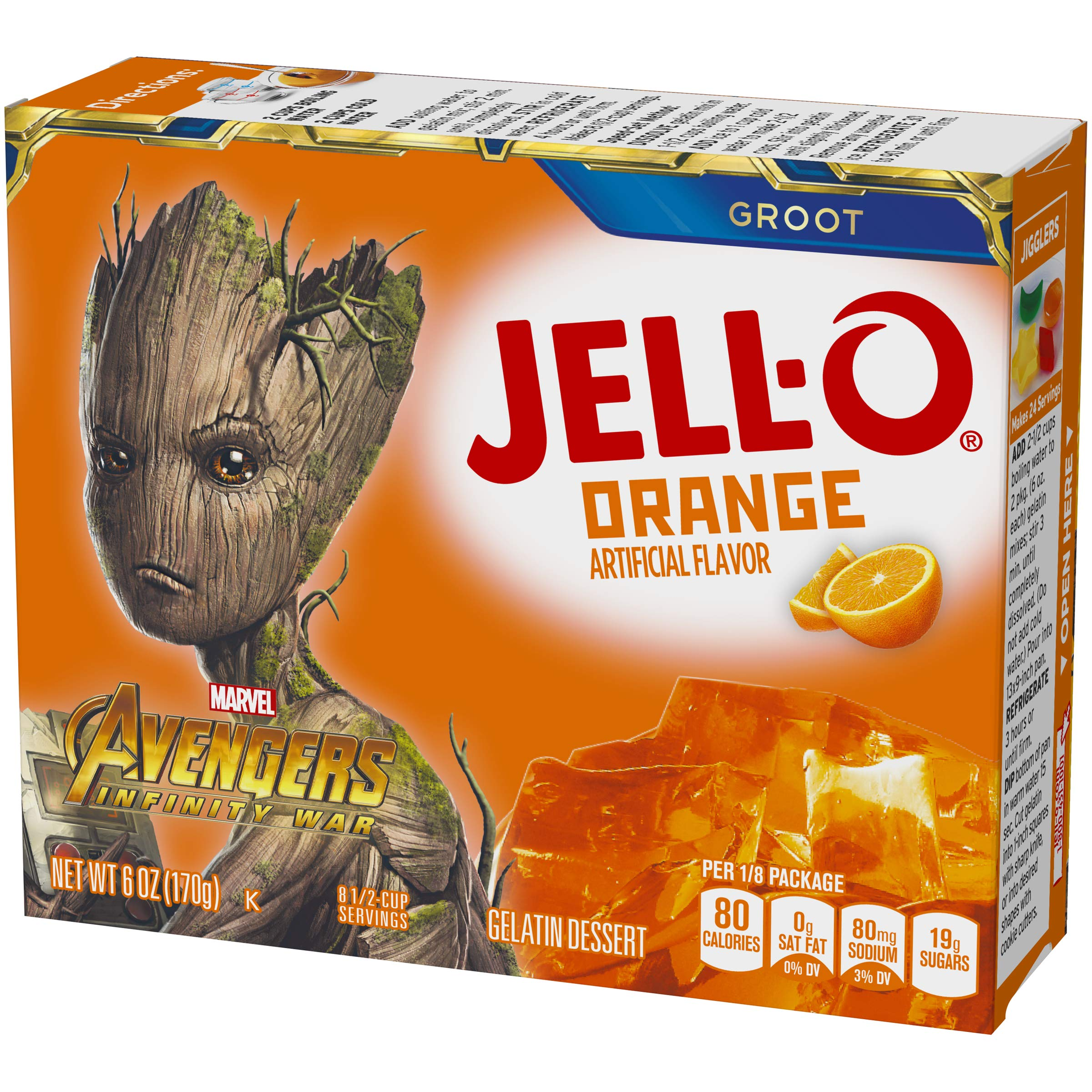 Jell-O Orange Gelatin Dessert Mix, 6 oz Box by Jell-O (Image #7)
