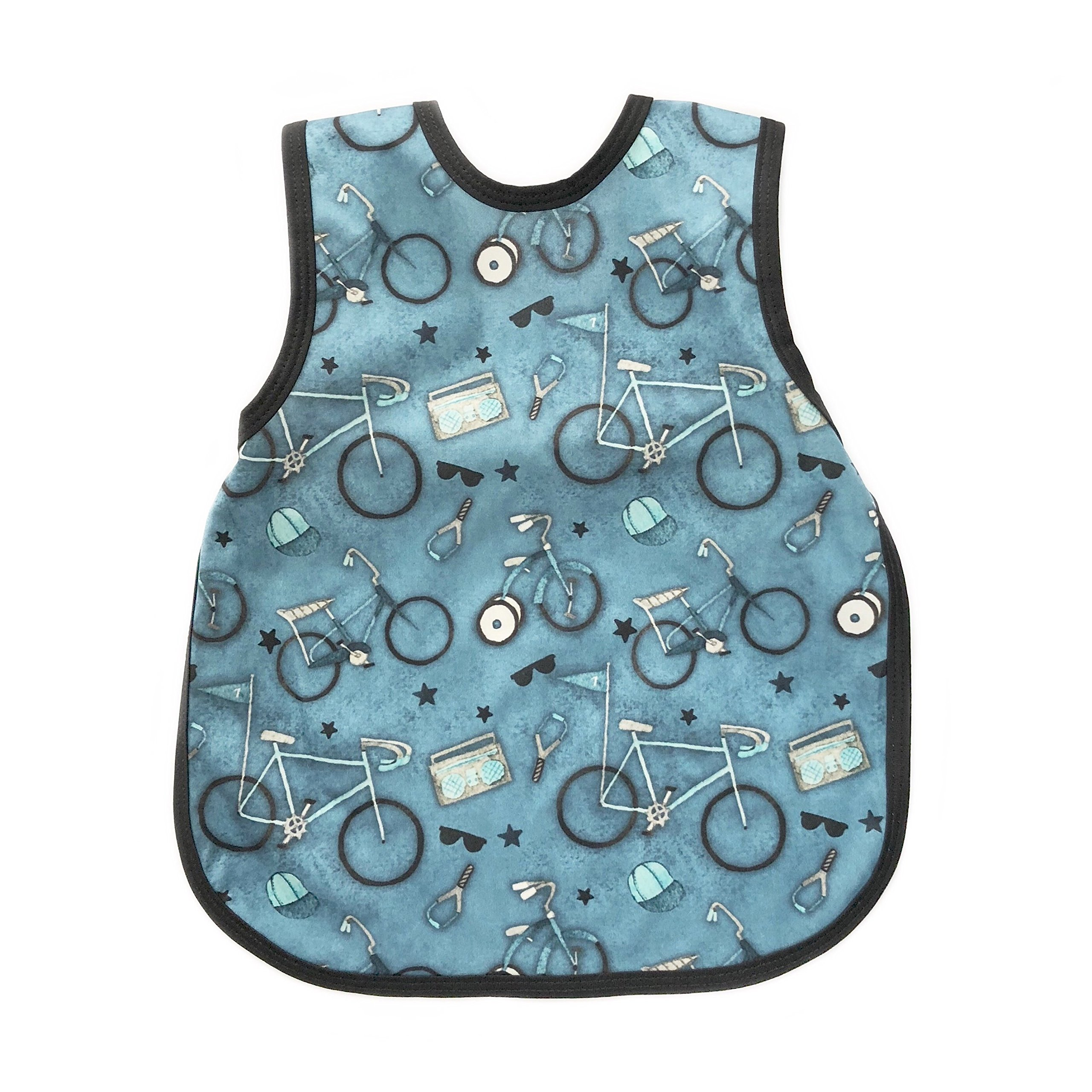 Bicycles in Blue Toddler Bapron for 6m-3T