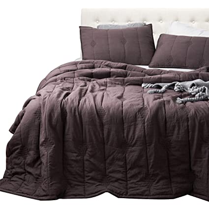 Amazon Annaz Home Ethan Quilt Stone Washed Microfiber Mini
