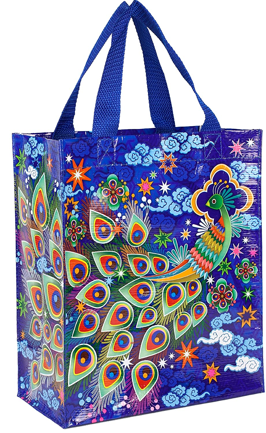 Amazon.com: Blue Q Peacock Handy Tote: Reusable Lunch Bags: Kitchen & Dining