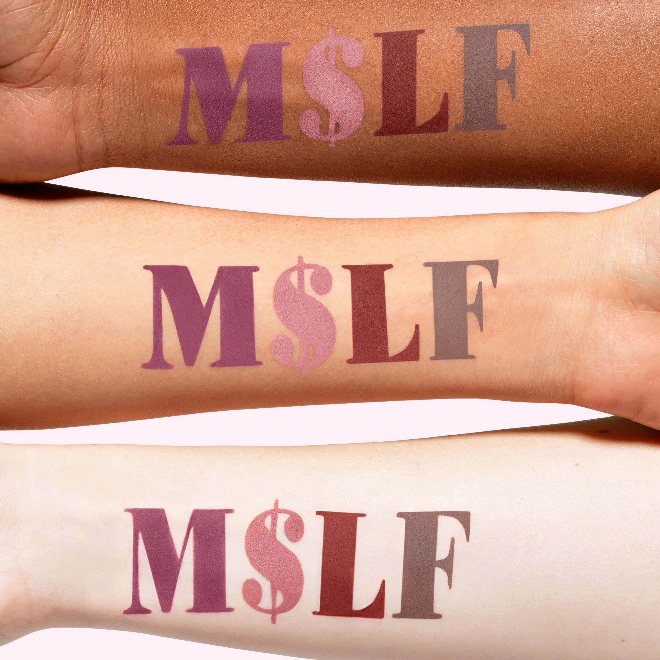 Lime Crime M$LF Set Bundle- Set of 4 Neutral Matte Velvetine Liquid Lipsticks