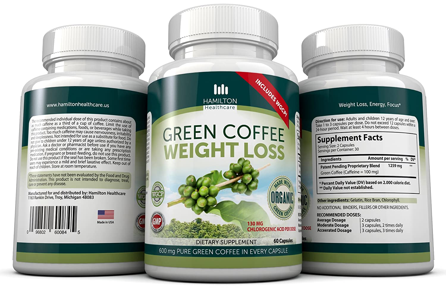 garcinia and green coffee bean dosage